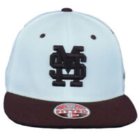 NCAA Zephyr Mississippi State Bulldogs White Flat Bill Fitted Size Hat Cap