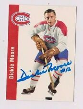 1994 Parkhurst Dickie Moore Montreal Canadiens Autographed Card #70