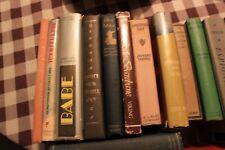 Lot of 14 vintage adult hardcover books Babe Ladies of Missalonghi - LOTF