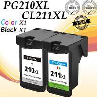 2 Pack Ink Cartridge For Canon PG-210XL CL-211XL PIXMA MX320 MX330 MX240 Printer