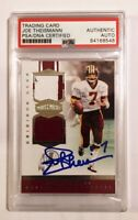 JOE THEISMANN Signed Panini Plates and Patches G/U Jersey Card #33/50 PSA DNA