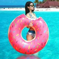 Inflatable Swimming Ring Donut Giant Pool Float Toy Circle Beach Sea Party Gift