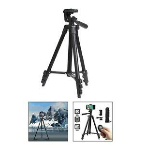 Selfie Tripod Aluminum Stick 4-Sections Bluetooth Remote for