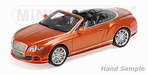MINICHAMPS 107139430 Scale 1:18, Bentley Continental Gt Speed # New IN Boxed#