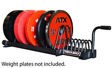 POWER MAXX Bumper Weight Plate Toaster Rack Storage Gym Training Stand Crossfit
