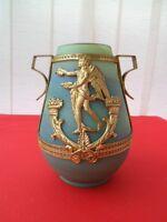 Superbe vase en pâte de verre Sèvres L & F