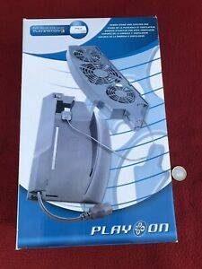 Play Station 3 Play On Power Stand & Cooling Fan, NEW Old Shop Stock, boxed