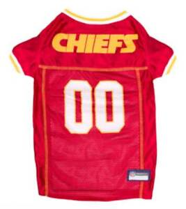 Pets First NFL Kansas City Chiefs Screen Printed Mesh Dog Jersey - Red/Yellow