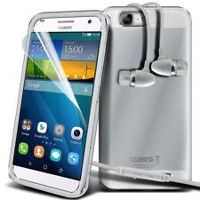 Ultra Sottile Trasparente Custodia Cover In Gel & Vivavoce per Huawei Ascend G7