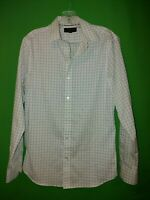 0458) BANANA REPUBLIC small S men's Slim Fit plaid button down shirt S
