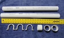 """4 ft Central Vacuum Pipe 2""""Od Pvc + 3 Couplings, 3 Pipe Straps"""