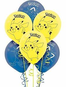 "8pcs Pokemon Go Pikachu Latex Balloons Birthday Party Decoration 12"""