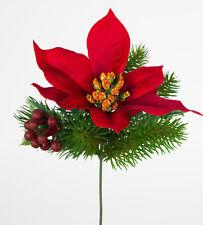 Amaryllis ohne Zwiebel Weihnachtsstern künstlich Blume Premiumquali Weihnachten