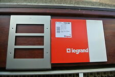 legrand 7313 90 Grid Plate 3 by 3G for 6 full aperture modules modern nickel