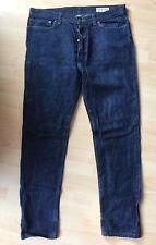 American Apparel Dark Blue Trousers Jeans Straight Leg Memphis Indigo W34 Men's