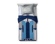 Star Wars Reversible Twin Gray & Blue Quilt & Sham Set