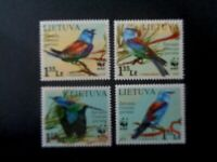 LITHUANIA 2008 WWF BIRDS SET 4v MNH MINT