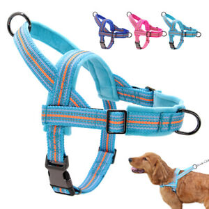 No Pull Reflective Dog Harness Front Clip Soft Plush Padded Pet Strap Vest S-2XL
