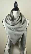 NEW LV Monogram VERONE GREY Silk Scarf/Shawl 100% Authentic M72238 Louis Vuitton