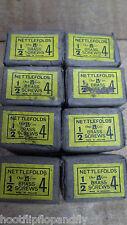 "10 BOXES of 144 1/2"" x 4 NETTLEFOLDS GKN BRASS COUNTERSUNK SLOTTED WOODSCREWS"