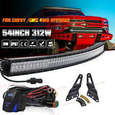 "For Chevy Avalanche Suburban/GMC Yukon 54"" Curved LED Light Bar w/Mount Bracket"