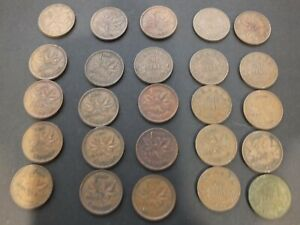 lot of 20 Canadian Pennies 1921-1951