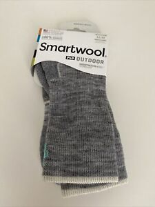 NWT Smartwool Women's PhD Outdoor Light Crew Socks Grey Size M