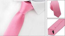New Classic Skinny Slim Tie Solid Color Plain Silk Men's Jacquard Woven Necktie