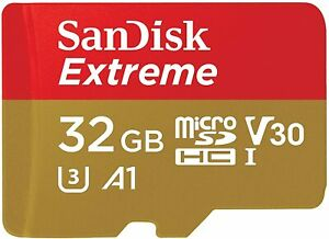 SanDisk Extreme microSDHC 32GB + SD Adapter + Rescue Pro Deluxe 100MB/s C10 NEU