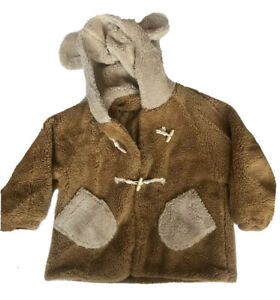 Adult Size Teddy Bear Sweater Hood With Ears Toggle Button Pockets Quilted Lined