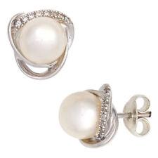 Echte Perlen-Ohrschmuck im Ohrstecker-Stil aus Weißgold