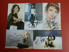 Girls Generation Yoona SNSD Taeyeon Signed 5 Photos 4x6 Autographed USA SELLER -