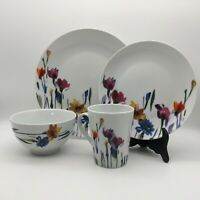 CHOICE BY THE PIECE~MIKASA GOURMET BASICS WATERCOLOR GARDEN PORCELAIN DISHES