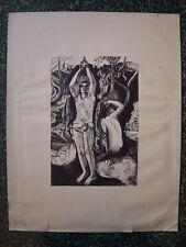 Gravure Eau-forte de Guilbert Martin d'après Paul GAUGUIN  Le fruit défendu Eve