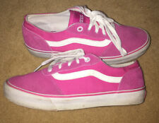 Vans DesignerOld Skool Pink Trainers Worn Once Size 4 Suede Leather Toe Lace Up