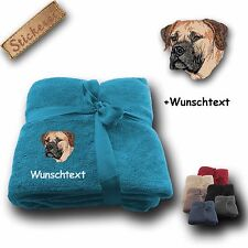 Fluffy Cover Boerboel Embroidery 70 7/8x51 3/16in