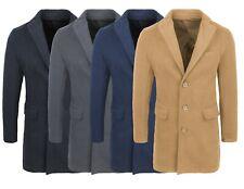 Cappotto giacca uomo sartoriale slim fit elegante invernale cammello nero blu