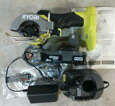 New Ryobi 18v One Hp 3 Brushless Compact Cutoff Saw Kit Model Psbcs02cn