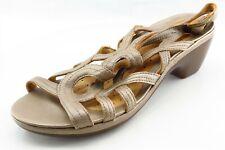 Clarks Size 7.5 M Beige Slide Leather Women Sandal Shoes