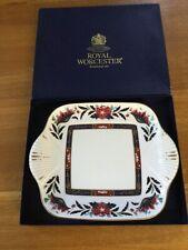 Royal Worcester Rectangular Cake Plate Prince Regent Design Boxed