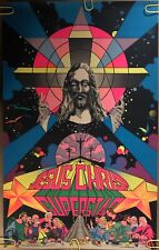 Original Vintage Blacklight Poster Jesus Christ Superstar 1971 Musical Promo 70s