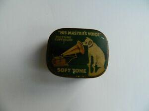 His Master's Voice Soft  Tone  Gramophone   Needle Tin