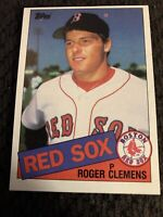 1985 Topps Roger Clemens Rookie Card #181 Boston Red Sox Centered Front