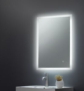 NOA 800 x 600 LED Illuminated Bathroom Mirror with Demister pad and Touch 3018