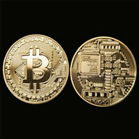 1pcs Rare Collectible In Stock Gold Plated Coin Iron Bitcoin Commemorative Gifts