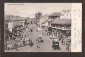 INDIA-BOMBAY-1908. Bombay-Street Scene. U/B.