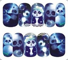 Nail Art Decals Transfers Stickers Cute Pandas (A-1296)