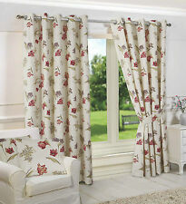 Country 100% Cotton Ready Made Curtains & Pelmets