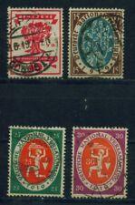 (dr214) Deutsches Reich 1919, Michel n. 107-110, timbrato