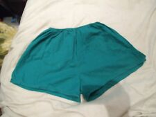"T1 Mens Vintage 80s Sprinter Cotton unlined Sports Shorts D6 M 34"" green basic"